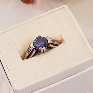 Vintage Tanzanite and Sterling SIlver Ring Size 6